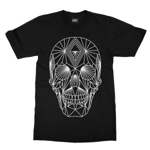 maglietta-nera-poly-skull-black-t-shirt-stampa-grafica-bianca-graphic-print-white