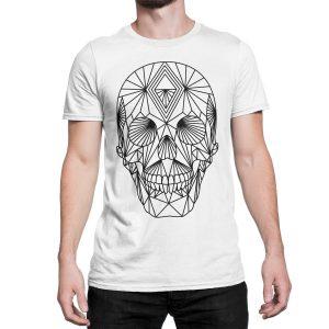 vestita-maglietta-bianca-poly-skull-white-t-shirt-stampa-grafica-nera-graphic-print-black