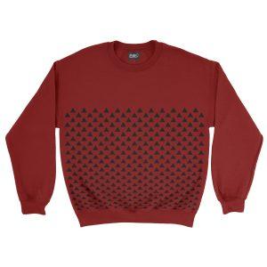 felpa-rossa-pattern-triangle-red-sweatshirt-stampa-grafica-nera-graphic-print-black