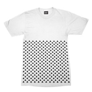 maglietta-bianca-pattern-triangle-white-t-shirt-stampa-grafica-nera-graphic-print-black