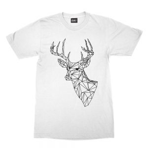 maglietta-bianca-poly-deer-white-t-shirt-stampa-grafica-nera-graphic-print-black
