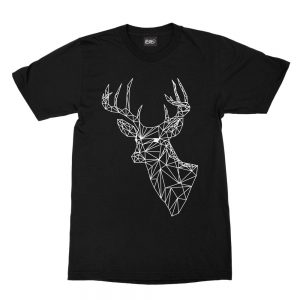 maglietta-nera-poly-deer-black-t-shirt-stampa-grafica-bianca-graphic-print-white