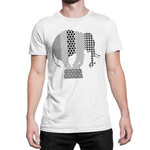 vestita-maglietta-bianca-elephant-white-t-shirt-stampa-grafica-nera-graphic-print-black