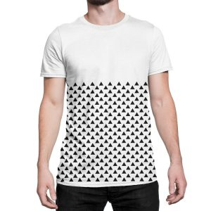 vestita-maglietta-bianca-pattern-triangle-white-t-shirt-stampa-grafica-nera-graphic-print-black