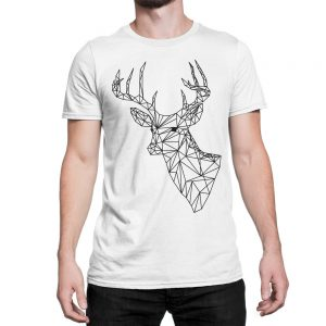 vestita-maglietta-bianca-poly-deer-white-t-shirt-stampa-grafica-nera-graphic-print-black