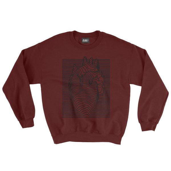 felpa-granata-illusion-heart-burgundy-sweatshirt-stampa-grafica-nera-graphic-print-black
