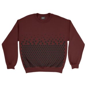 felpa-granata-pattern-hexagon-burgundy-sweatshirt-stampa-grafica-nera-graphic-print-black