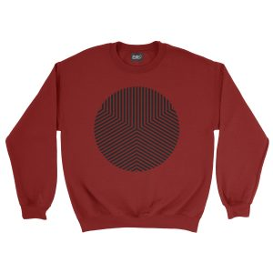 felpa-rossa-circle-edge-red-sweatshirt-stampa-grafica-nera-graphic-print-black