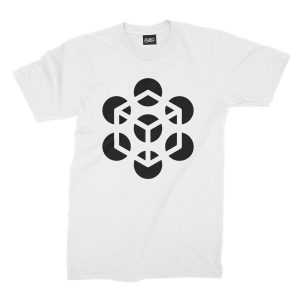 maglietta-bianca-illusion-cube-white-t-shirt-stampa-grafica-nera-graphic-print-black