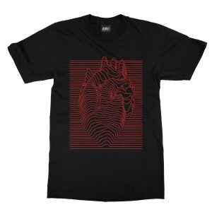 maglietta-nera-illusion-heart-black-t-shirt-stampa-grafica-rossa-graphic-print-red