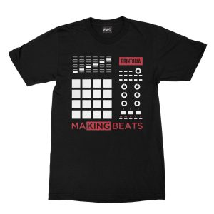 maglietta-nera-making-beats-t-shirt-stampa-grafica-bianca-rossa-graphic-print-white-red
