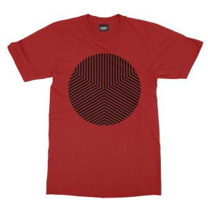 maglietta-rossa-circle-edge-red-t-shirt-stampa-grafica-nera-graphic-print-black