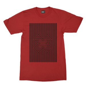 maglietta-rossa-illusion-x-red-t-shirt-stampa-grafica-nera-graphic-print-black