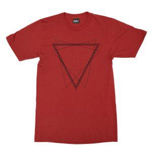 maglietta-rossa-triangle-red-t-shirt-stampa-grafica-nera-graphic-print-black