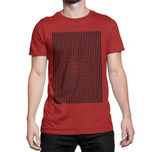 vestita-maglietta-rossa-illusion-x-red-t-shirt-stampa-grafica-nera-graphic-print-black